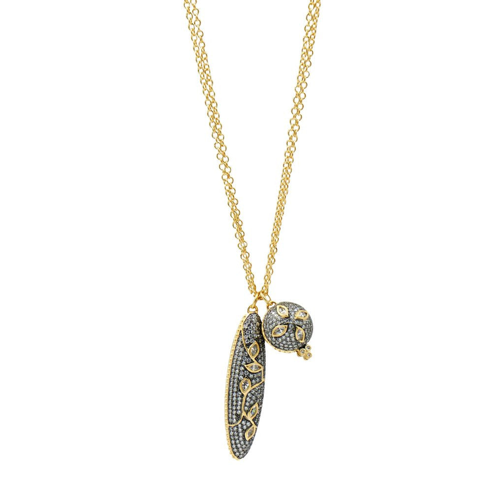 FREIDA ROTHMAN FLEUR BLOOM DROP PENDANT NECKLACE JOPHIEL