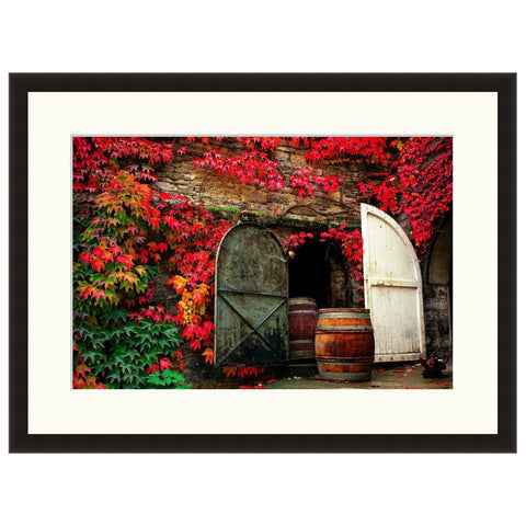 Burgundy Barrels  - Fine Art Photograph by Andy Katz  - Framed Wall Art