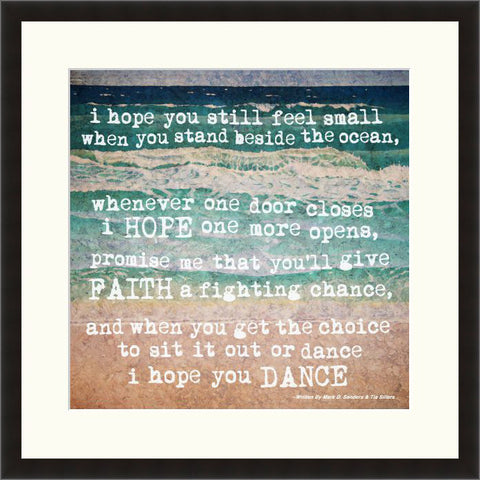 I Hope You Dance - Lyric Culture  - Fine Art Photograph by Lyric Culture  - Framed Wall Art