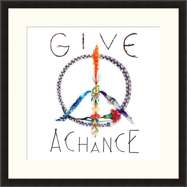 Give Peace A Chance - Lyric Culture  - Fine Art Photograph by Lyric Culture  - Framed Wall Art