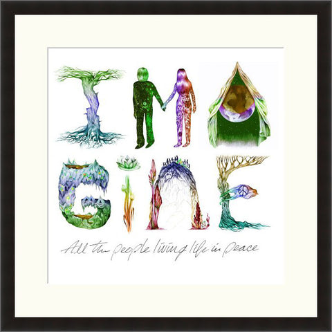 Lyric Culture - Imagine - Framed