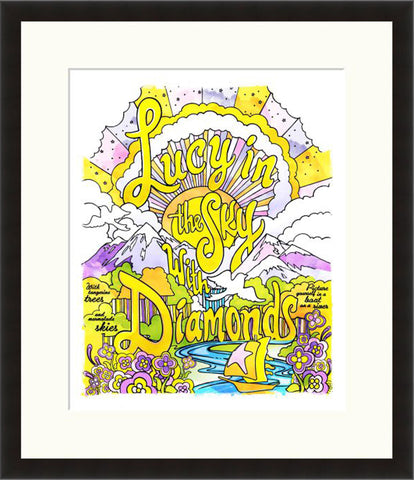Lucy In The Sky With Diamonds - Lyric Culture  - Fine Art Photograph by Lyric Culture  - Framed Wall Art
