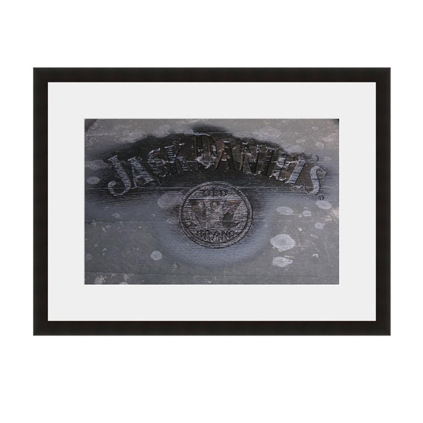 Image shown in Black Onyx frame with white mat