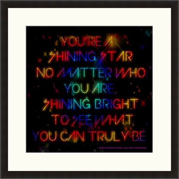 You're A Shining Star - Lyric Culture  - Fine Art Photograph by Lyric Culture  - Framed Wall Art
