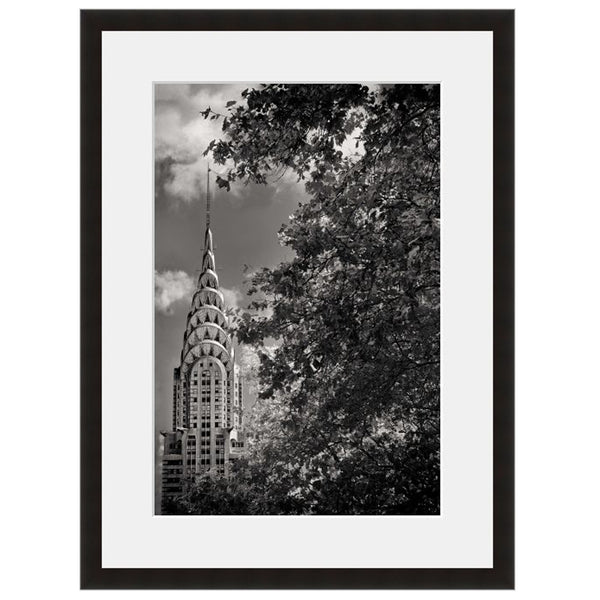 Image shown in Black Onyx frame with white mat. New York City, New York, Chrysler Building, photographed by Vincent Versace.
