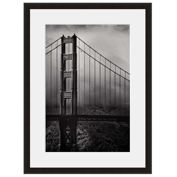 Image shown in Black Onyx frame with white mat. San Francisco, California, Golden Gate Bridge, photographed by Vincent Versace.
