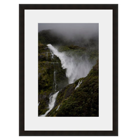 Waterfall Mist III  - Fine Art Photograph by Andy Katz  - Framed Wall Art