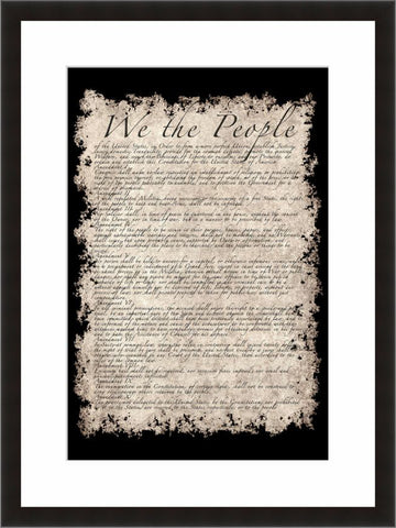 US Constitution  - Fine Art Photograph by Bruce Stanfield  - Framed Wall Art