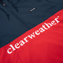 Load image into Gallery viewer, LIGHTWEIGHT PULLOVER WINDBREAK / NAVY/RED