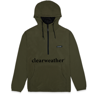 Lightweight Windbreaker Army Green profile view