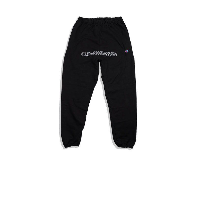 EMBROIDERED SWEAT BOTTOMS / BLACK - Clear Weather