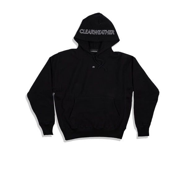 EMBROIDERED HOODIE / BLACK - Clear Weather