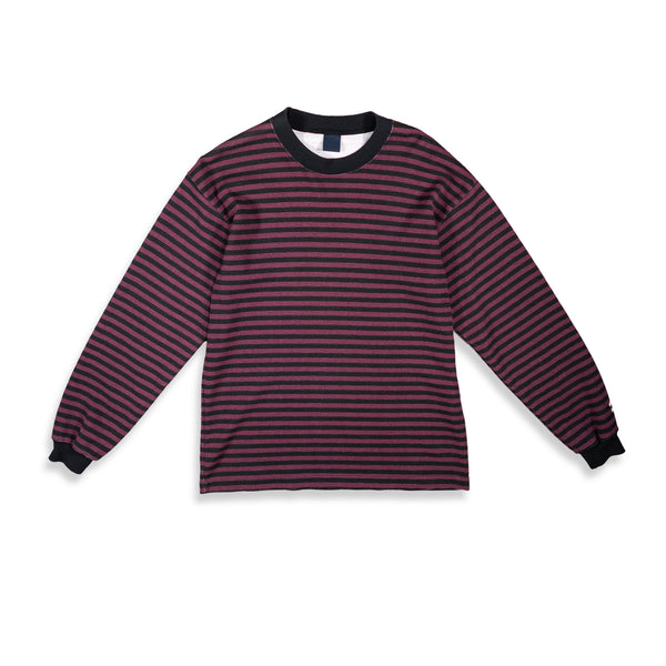 BIKER STRIPE THERMAL / BLACK MAROON - Clear Weather