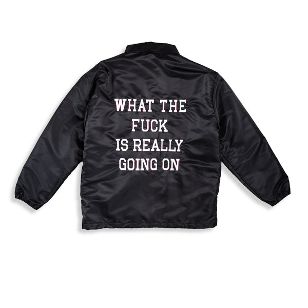 WHAT THE FUCK MEMBER JACKET / BLACK - Clear Weather