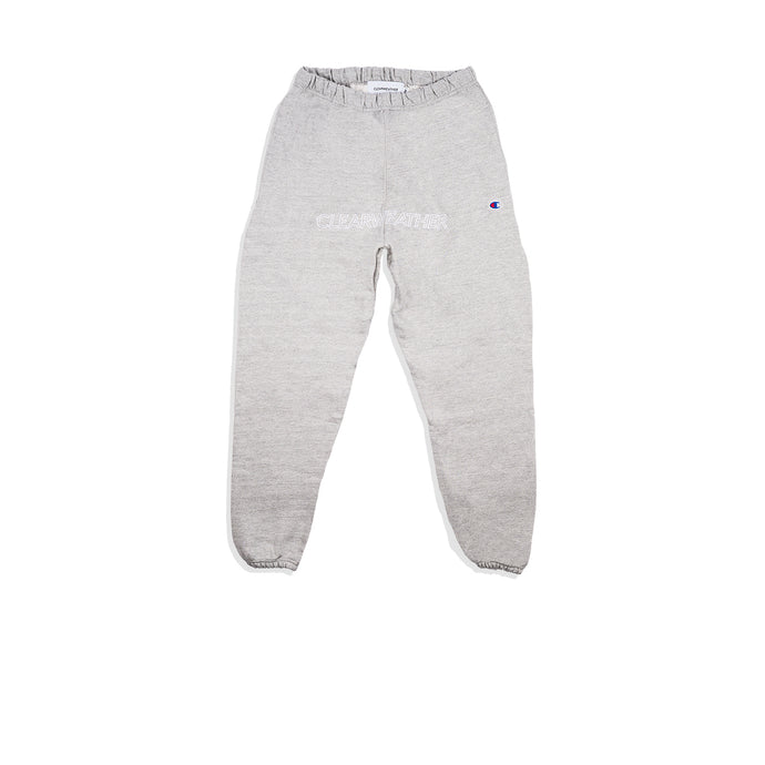 EMBROIDERED SWEAT BOTTOMS / GREY - Clear Weather