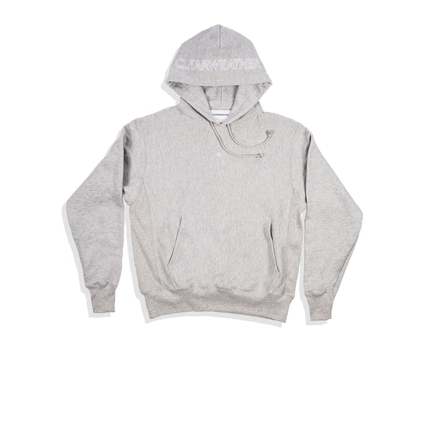 EMBROIDERED HOODIE / GREY - Clear Weather