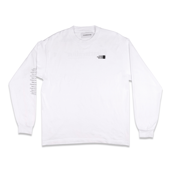HOME LONGSLEEVE TEE in WHITE - Clear Weather