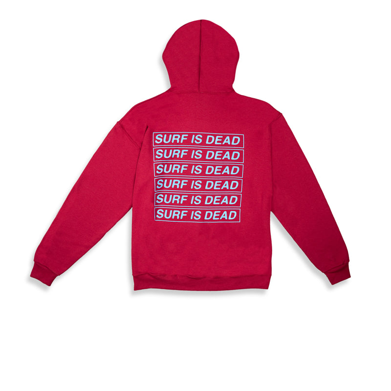 Surf Is Dead Panic Room Hoodie / Cardinal - Clear Weather