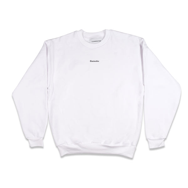 HOME CREWNECK in WHITE - Clear Weather