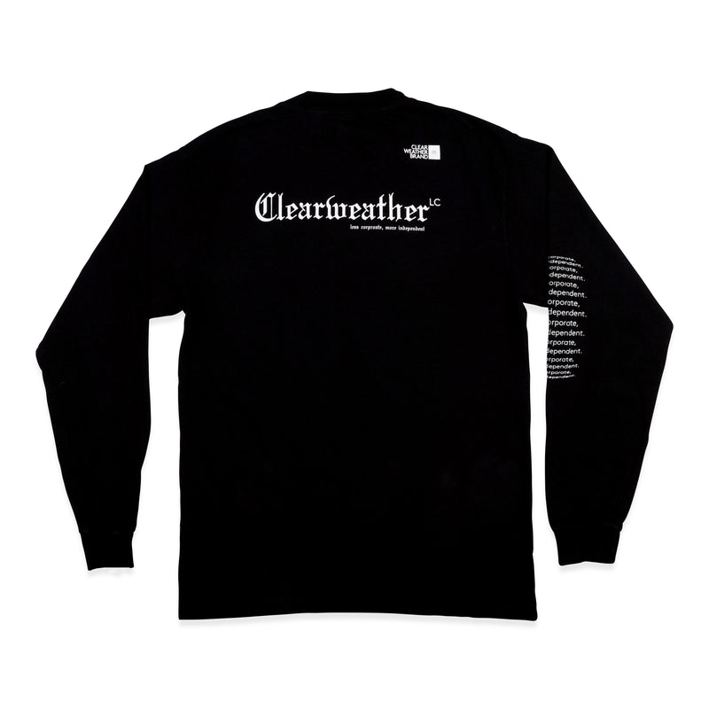 AWAY LONGSLEEVE TEE in BLACK - Clear Weather