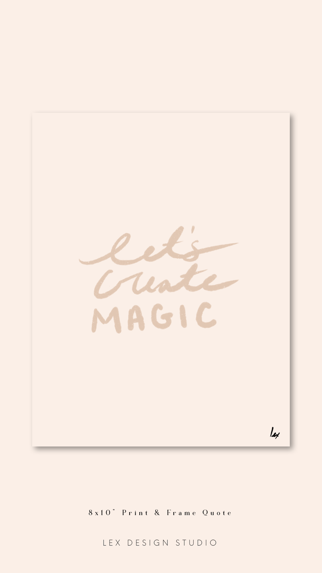 "Print & Frame Art ""Let's Create Magic"": Digital Download"