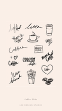 Load image into Gallery viewer, Coffee Hand Lettered PNGs: Digital Download