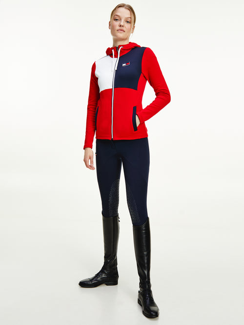 training jacket-color-block-primary-red