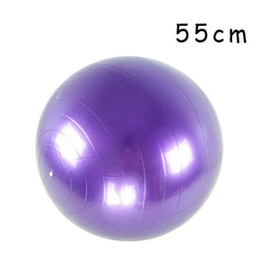 PVC Fitness Balls Yoga Ball Thickened Explosion-proof Exercise Home Gym Pilates Equipment Balance Ball 45cm/55cm/65cm/75cm/85cm - Quick two Ship