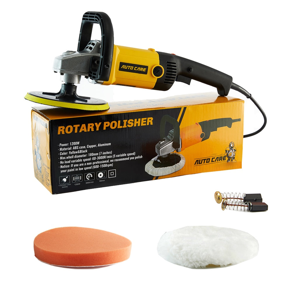 Rotatory Car Polisher 180mm disc Orbital Variable Speed 3000rpm  M14 Electric Floor Polisher Paint Care Tool Polishing Machine - Quick two Ship