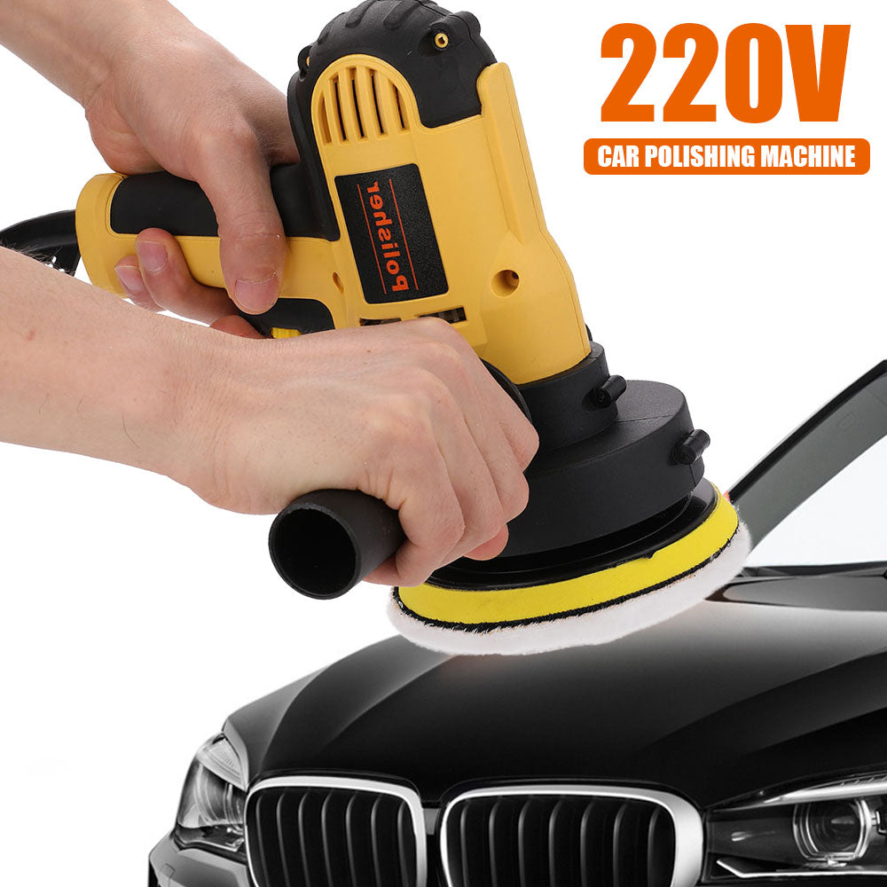 Car Rotary Car Polisher 125mm disc Orbital Variable Speed 3700rpm Electric Floor Polisher Paint Care Tool Polishing Machine - Quick two Ship