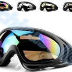 1pcs Winter Windproof Skiing Glasses Goggles Outdoor Sports cs Glasses Ski Goggles UV400 Dustproof Moto Cycling Sunglasses - Quick two Ship