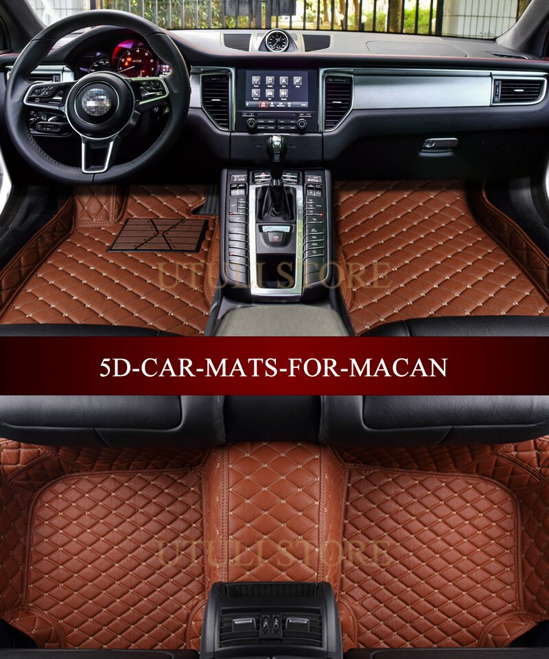 Leather Car floor mat carpet rug for Macan Cayenne Panameraa Boxster custom fit car all weather carpet floor liners foot mats - Quick two Ship