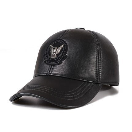 Exclusive 2020 Korean  Genuine Leather Ponytail Baseball Caps For Men/Women Youth Eagle Locomotive Hip-Pop Bone Leisure Hat - Quick two Ship