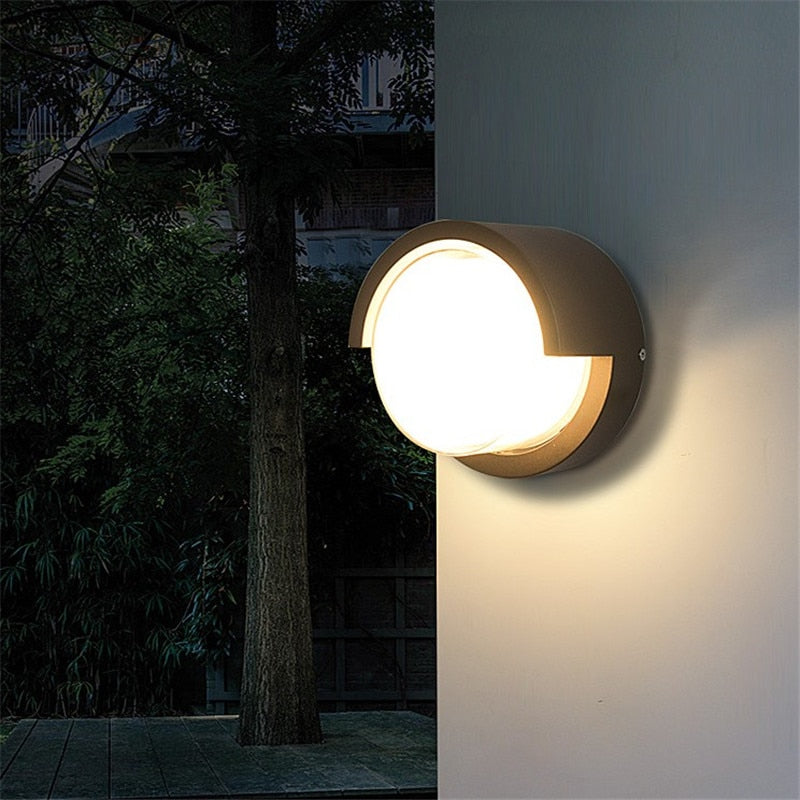 LED Wall Light Outdoor Waterproof Porch Light Garden Lamp Modern Indoor Wall Lamps Living Room Corridor Bathroom Lamp - Quick two Ship