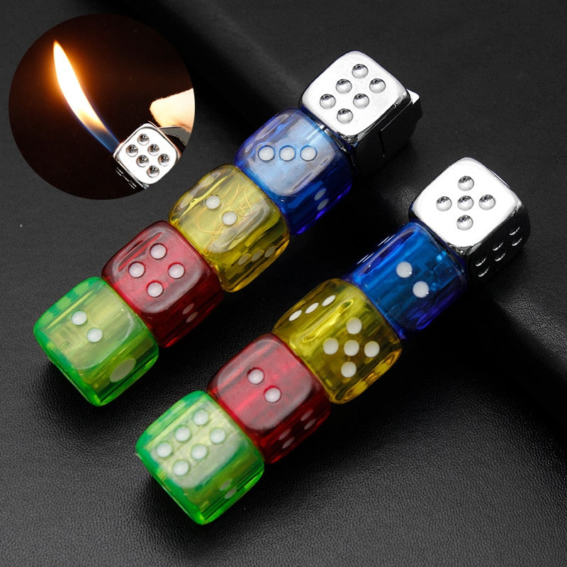 Personalise Gas Lighters Metal Funny Flash Dice Unusual Lighter Smoking Accessories Gadgets for Men - Quick two Ship