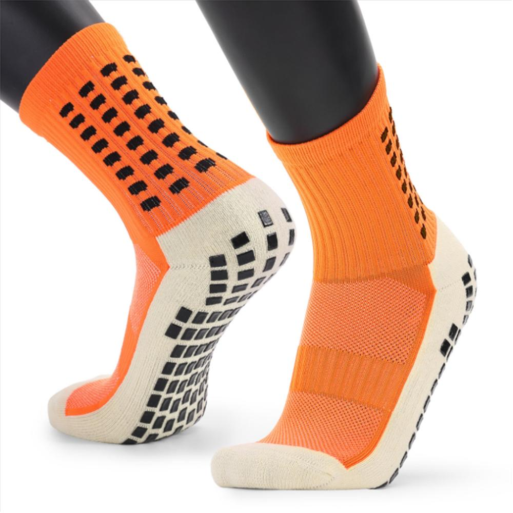 New Men's Sports Socks Thick Towel Bottom Men's Mid-tube Dispensing Non-slip Football Socks Basketball Socks Sports Stockings - Quick two Ship