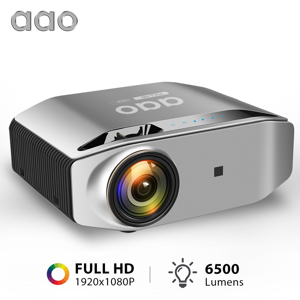 AAO Native 1080p Full HD Projector YG620 LED Proyector 1920x 1080P 3D Video YG621 Wireless WiFi Multi-Screen Beamer Home Theater - Quick two Ship