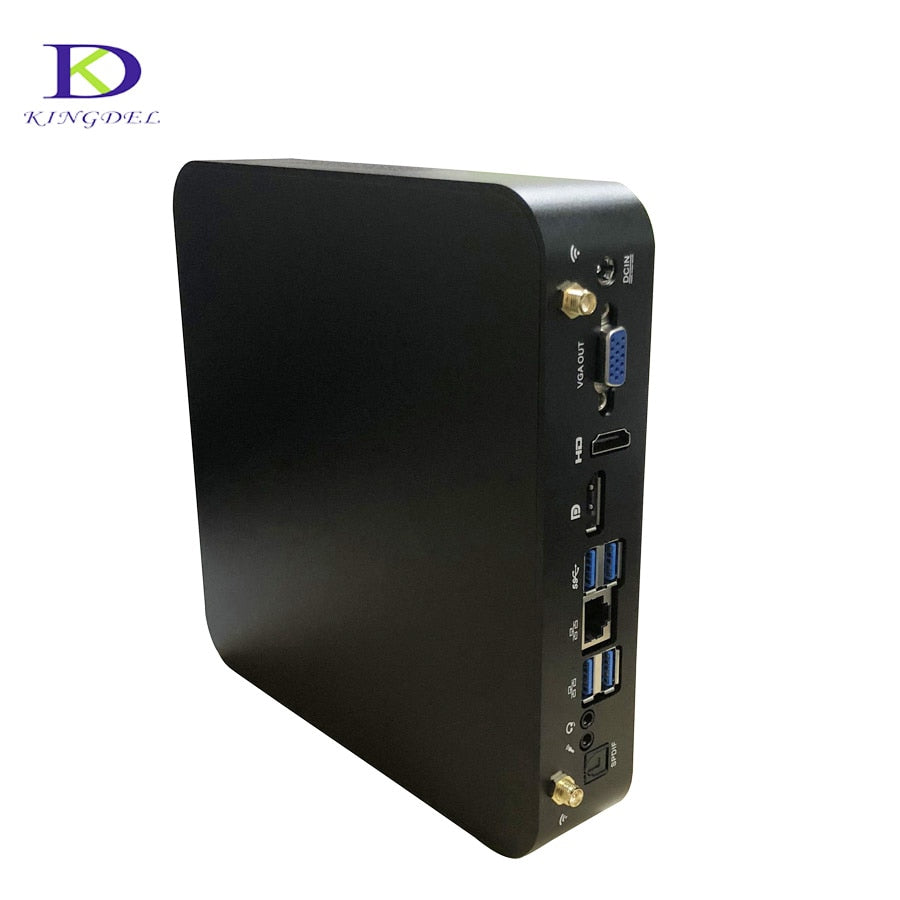Three screen display Mini PC with DDR4 High CPU i7 7700HQ 6M Cache HDMI VGA DP mini computer up to 32G RAM Nuc HTPC plus 2.8GHz - Quick two Ship