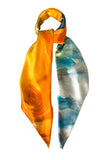 silk scarf: Limit of Love in multi colour