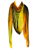 silk scarf: Blenheim in green