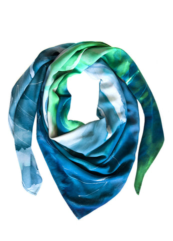rayon scarf: Blenheim in greenn