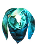 rayon scarf: Sky Is The Limit in green