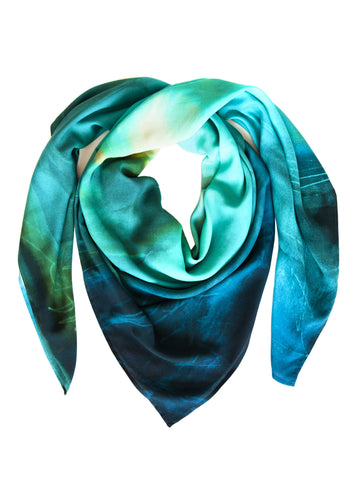 rayon scarf: Blenheim in green
