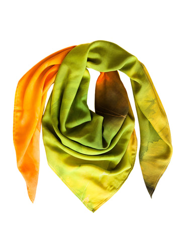 rayon scarf: Beyond The End in green