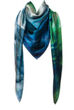 silk scarf: Beyond The End in green