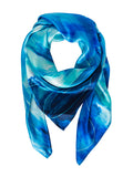 silk scarf: Blue Sky Day