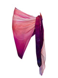 rayon scarf: Iris in blush pink