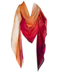 rayon scarf: Iris in sunrise orange