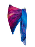 rayon scarf: Rainbow maker in multi colour