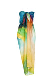 rayon scarf: Storm in multi colour